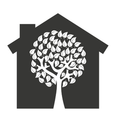 house home silhouette isolated icon vector image