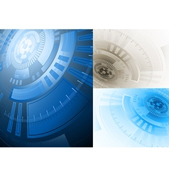 Tech background in several variations vector
