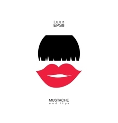 Ladies and gentlemen picture lips and mustaches vector
