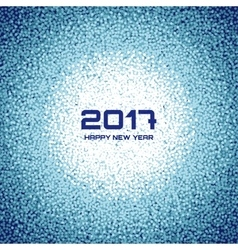 Blue white new year christmas snowflake background vector