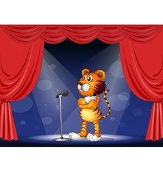 A tiger in the stage vector