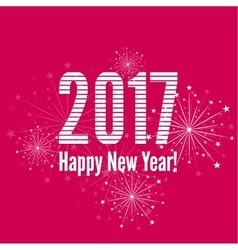 creative happy new year 2017 vector image