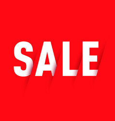 sale on red background vector image