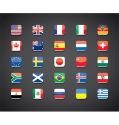 Flags apps set vector