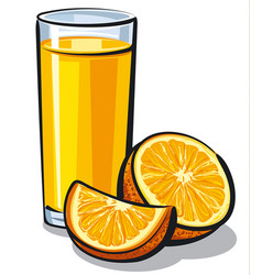 orange juice glass vector image