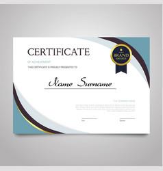 Certificate - horizontal elegant document vector