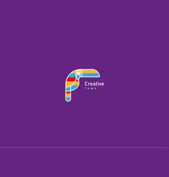 Development creative geometric contour logo large vector