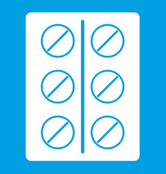Pills icon white vector