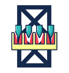 Freefall attraction icon cartoon style vector