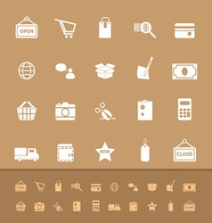 Set of shopping color icons vector