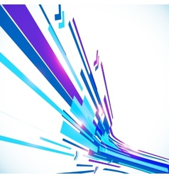 Abstract blue shining lines background vector image
