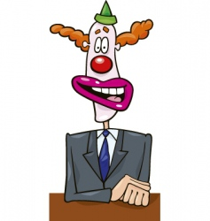 Politician in clown mask vector