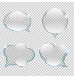 Glass transparency speech bubble vector