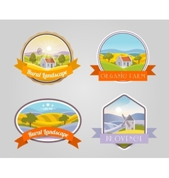 Rural landscape set vector