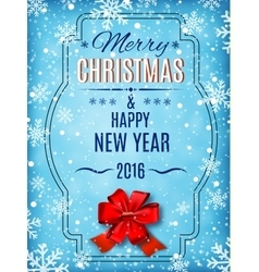 Merry christmas and happy new year text on winter vector