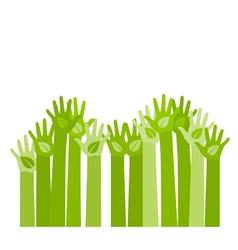 raising hands vector image