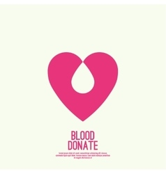 Logotype blood donation vector