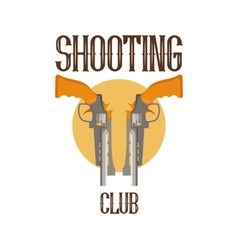logo shooting club vector image
