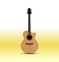 Acoustic guitar isolated on light background vector