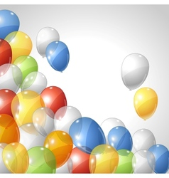 Balloons background vector