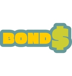 Bonds outline yellow sticker vector