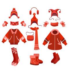 Cartoon woman winter clothes vector