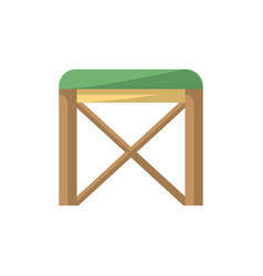 chair isolated icon in flat style vector image vector image