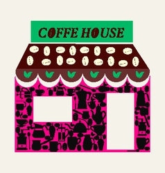 coffee shop and coffee house- vector image vector image