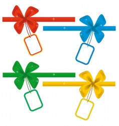 collection of ribbons with labels vector image