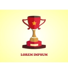 Cup winner logo vector