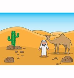 Desert buddy vector