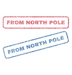 From north pole textile stamps vector