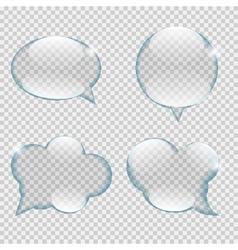 Glass transparency speech bubble vector