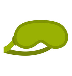Green sleeping mask icon isolated vector