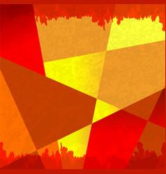 grunge shape orange background vector image