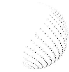 halftone hemisphere vector image