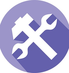 Hammer wrench icon vector