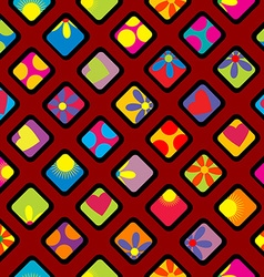 Happy wrapping paper design vector image