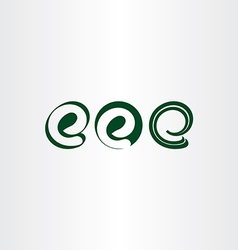 logo set of letter e icons vector image
