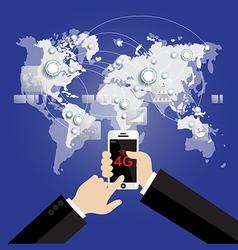 Modern communication technology mobile phone vector
