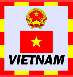 official ensigns flag and coat of arm of vietnam vector image vector image