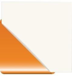 Orange paper corner vector
