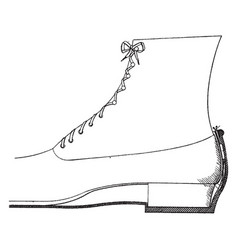 Overshoe fastening device vintage engraving vector
