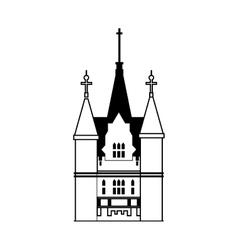 Palace icon Castle design graphic vector image