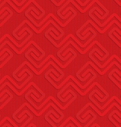 Red square fastening spirals on checkered vector image vector image