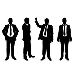set of businessmen posing vector image vector image