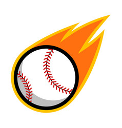 Sport ball fire baseball vector