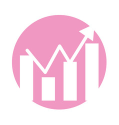 statistic graphic isolated icon vector image vector image
