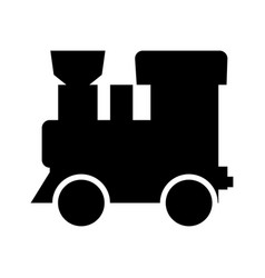 Steam locomotive - train black color icon vector