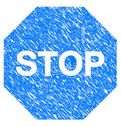 stop sign grunge icon vector image vector image